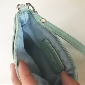 Charming Charlie Bags - Charming Charlie Mint Green Zipper Wristlet Purse